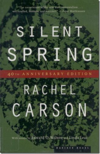 a literary analysis of silent spring by rachael carson I was almost finished reading rachel carson's silent spring when i authorized the application of garlon to 3300 square feet of vegetation surrounding a new commercial building garlon is an herbicide: a chemical officially called triclopyr—a cocktail of oxygen, nitrogen, hydrogen, and chlorine.