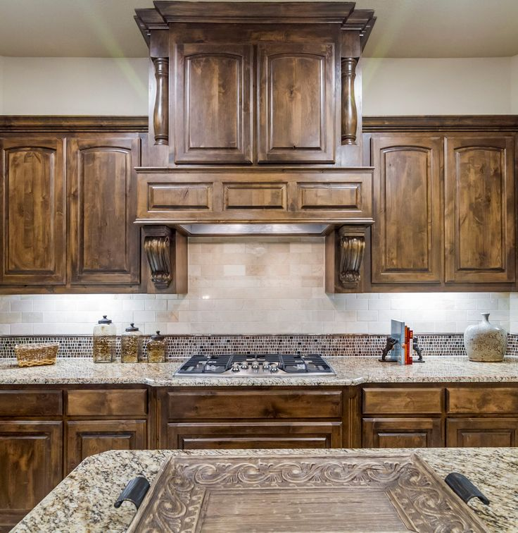 Gorgeous, Dark Stained Kitchen Cabinets In The Dallas Area! Home By D.R.  Horton #