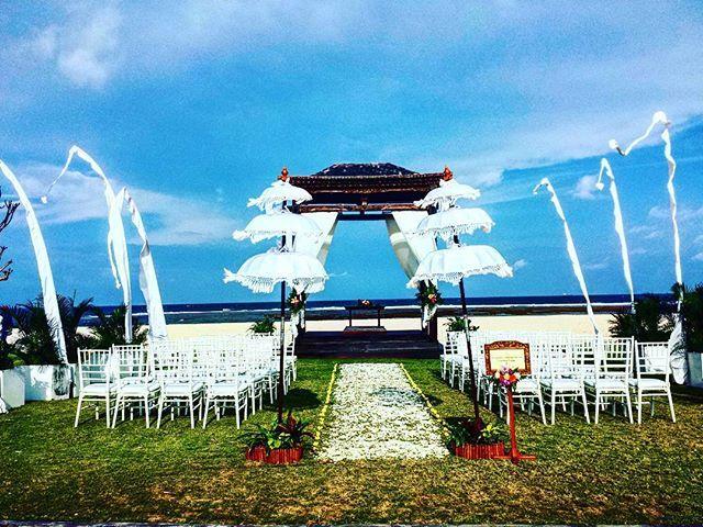 WEBSTA @ monie29_ - Wedding Ceremony at private beach Ayodya Resort Bali ❤ #weddingceremony #ayodyabali #privatebeach #nusadua #bali #explorebali #pariwisatabali #weddingdibali #savebali #photo #instapic #17092016 #weddingchapel #wedding #resort #beachfront #likeforfollow #like4like