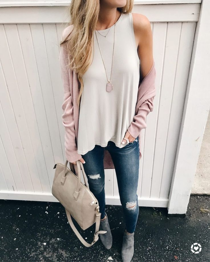 nordstrom anniversary sale tops - pink circle cardigan and lush side slit tank on pinterestingplans