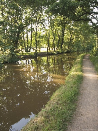 Towpath, Monmouth and Brecon Canal, Tal Y Bont, Powys, Mid-Wales, Wales, United Kingdom Photographic Print
