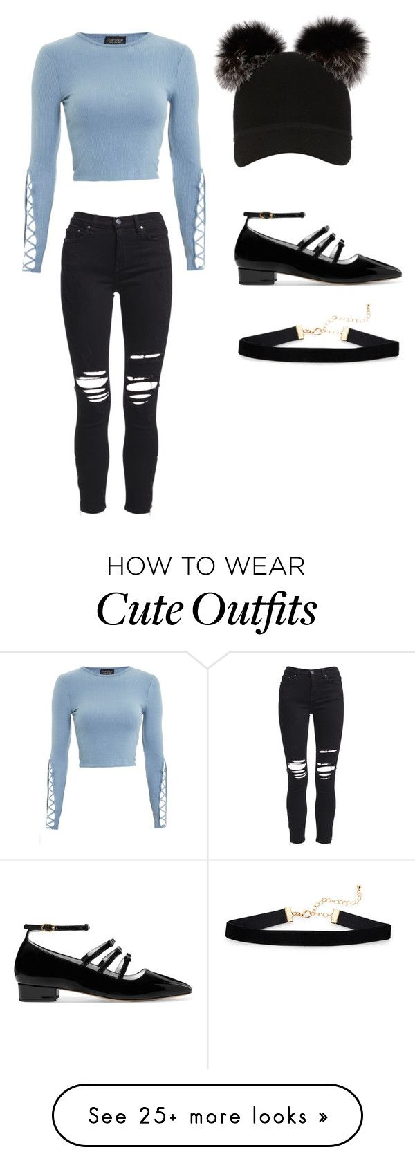 """Cute outfit"" by natalybelle on Polyvore featuring Topshop, Charlotte Simone, AlexaChung and AMIRI"