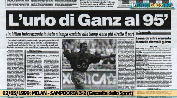 2 Maggio 1999 | Tiro di Ganz, deviazione Castellini: E' qui che il Milan vince lo scudetto