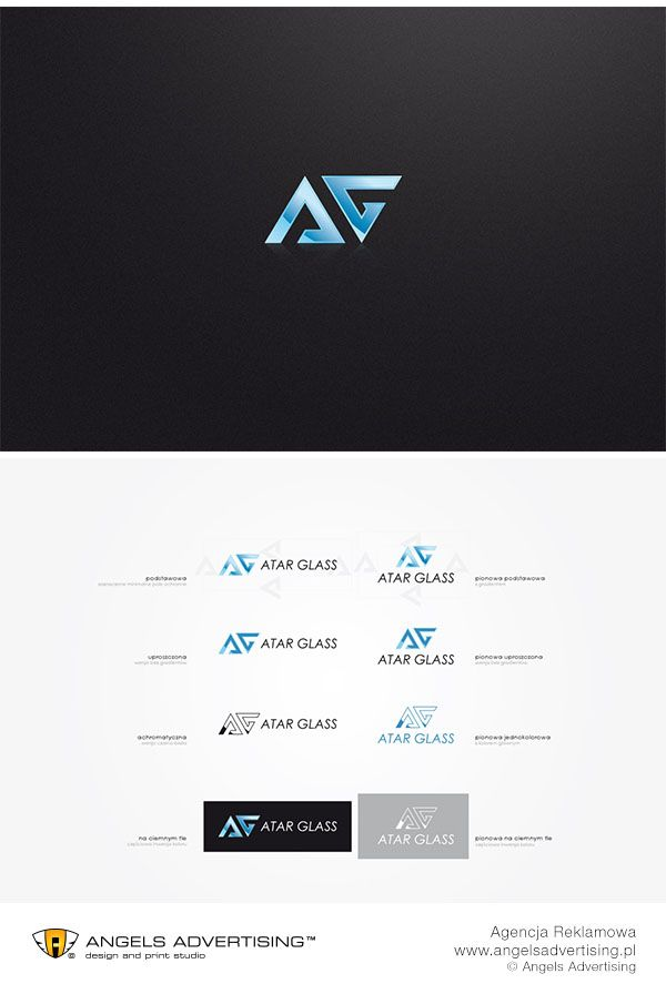 Logo dla firmy Atar Glass. #logo #agencjareklamowa #reklama #agencjareklamy