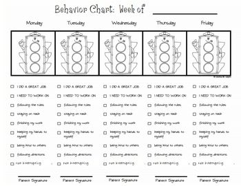 Keep your parents and students informed with a cute stoplight behavior chart.