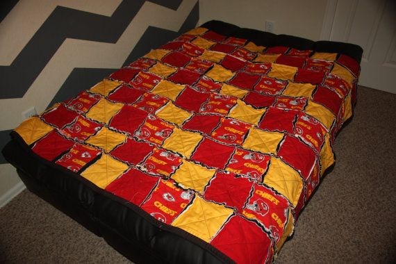 Kansas City Chiefs Rag Quilt By Meisespieces On Etsy