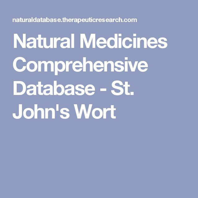Natural Medicines Comprehensive Database - St. John's Wort