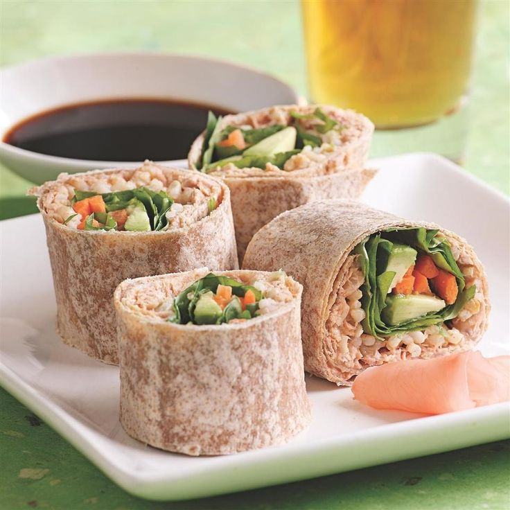 These tuna wraps were inspired by spicy tuna sushi rolls. We love how they taste with peppery watercress, but other greens, such as arugula, romaine, escarole or even radish sprouts, would taste great in the filling.