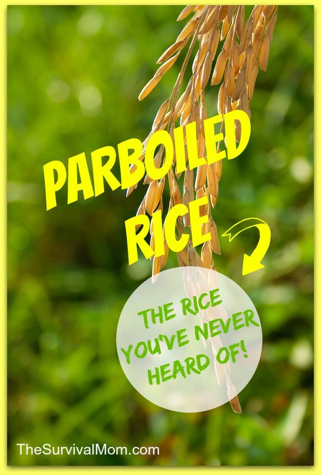 Parboiled rice: the rice you've never heard of! | via www.TheSurvivalMom.com