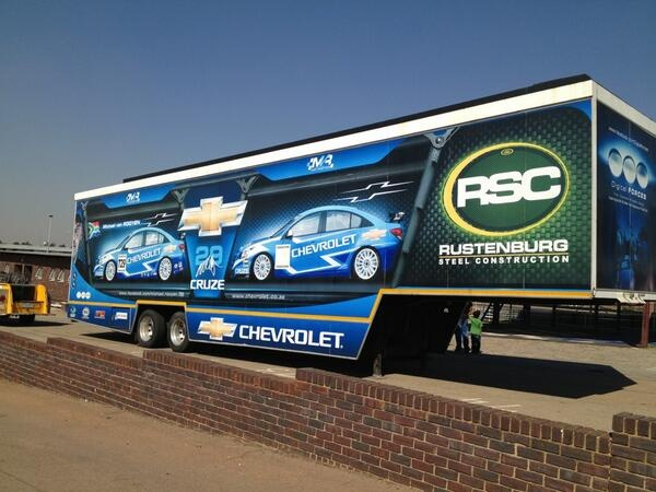 Our racing trailer ready for action, looking pretty good.