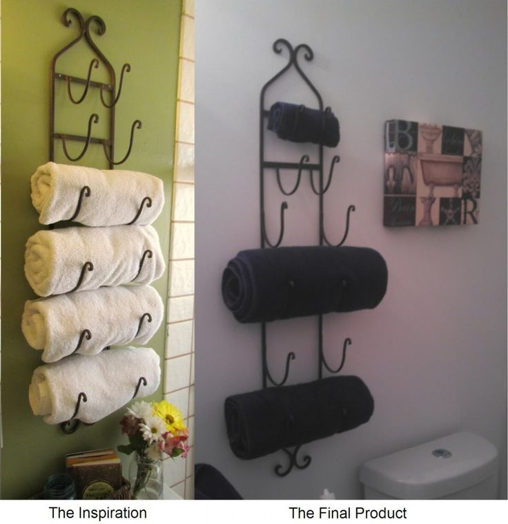 Best Bathroom Ideas Images On Pinterest Bathroom Ideas - Decorative towel hangers for small bathroom ideas
