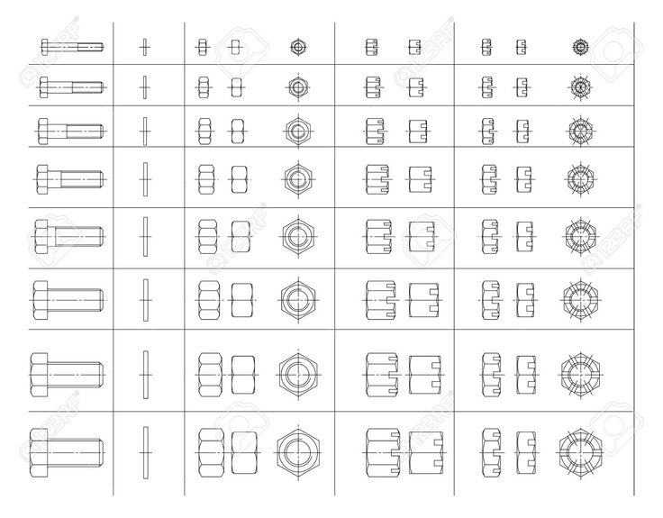 10639128-Vector-elements-for-your-design-A-set-of-drawings-of-bolts-and-nuts--Stock-Vector.jpg (1300×1016)