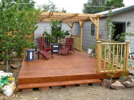 How to build a floating deck using deck blocks patio and for How to build a cheap floating deck