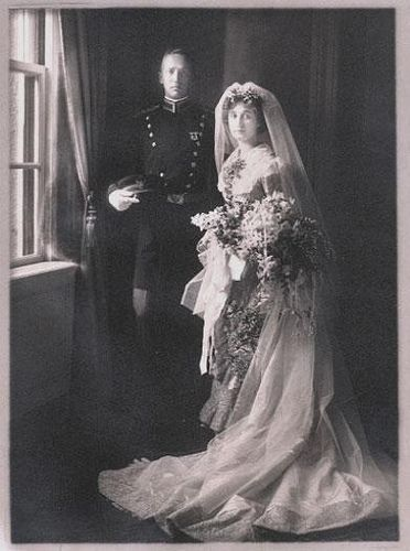 "Wedding photo of General George Patton and Beatrice Ayer.Throughout his miliatry career, George wrote the most beautiful love letters to Beatrice - ""I love you so, Bea ... I am not so hellish young and it is not spring, yet still I love you just as much as if we were 22 again on the baseball grandstand at West Point the night I graduated."""