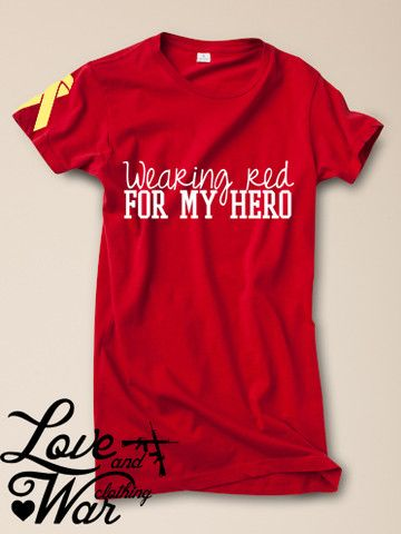 Wearing red for my hero tee