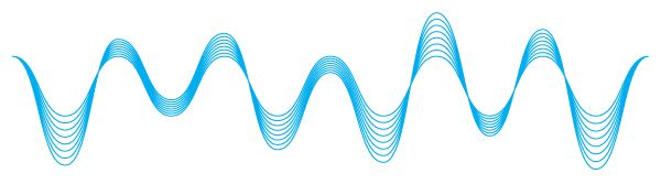 Love the smooth curves of sound waves and the flow it could give to a logo