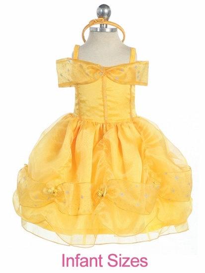 Infant toddler Princess belle dress