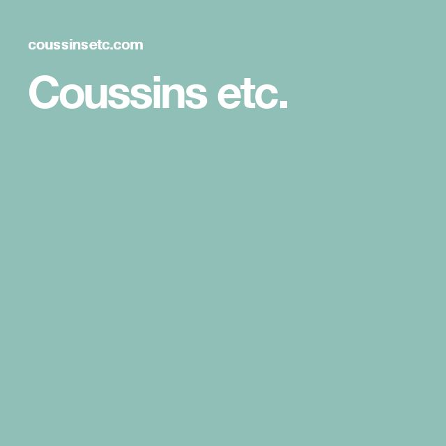 Coussins etc.