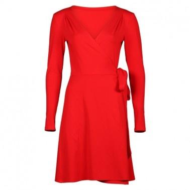 Prachtige rode jurk van het merk Serendipity. Perfect voor de feestdagen maar ook zakelijk of casual een heerlijk jurkje!