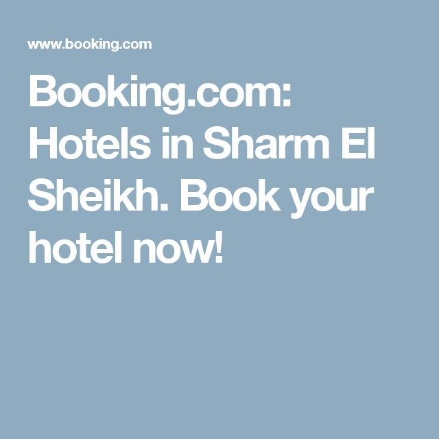 Booking.com: Hotels in Sharm El Sheikh. Book your hotel now!