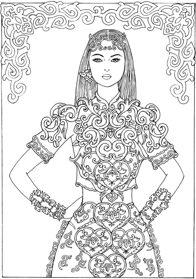 383 best People Fashion Coloring Pages images on Pinterest