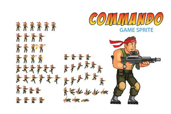 Commando Game Sprite by Gagu on Creative Market