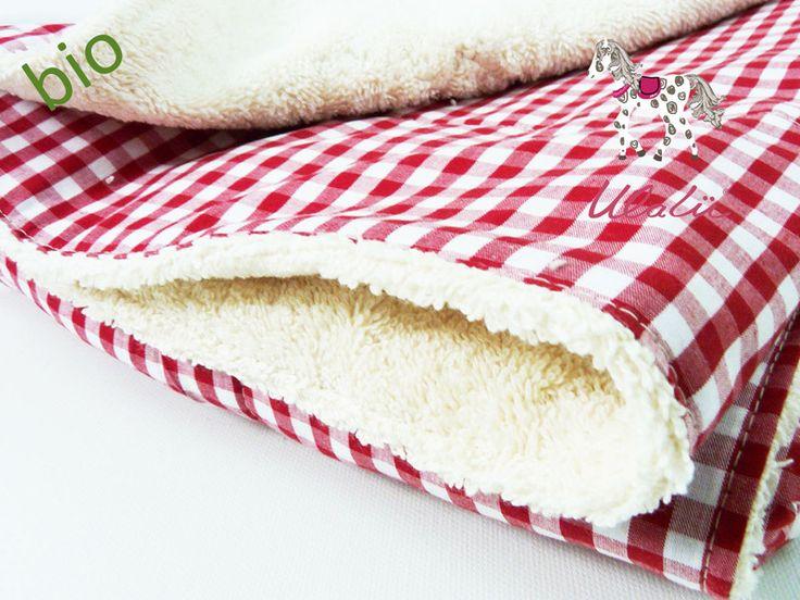 Babydecken - Bio Babydecke Baumwolle Rot Weiß - ein Designerstück von Ulalue-Kinderdinge bei DaWanda