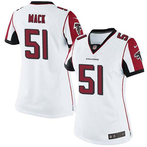 Women's Nike Atlanta Falcons #51 Alex Mack Limited White NFL Jersey
