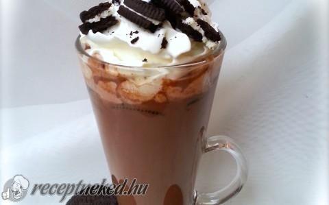 Oreos házi forró csoki recept fotóval