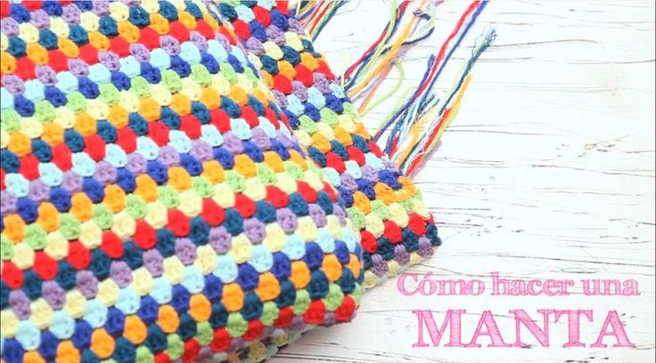 Cómo hacer una manta de ganchillo | How to crochet a stripped blanket