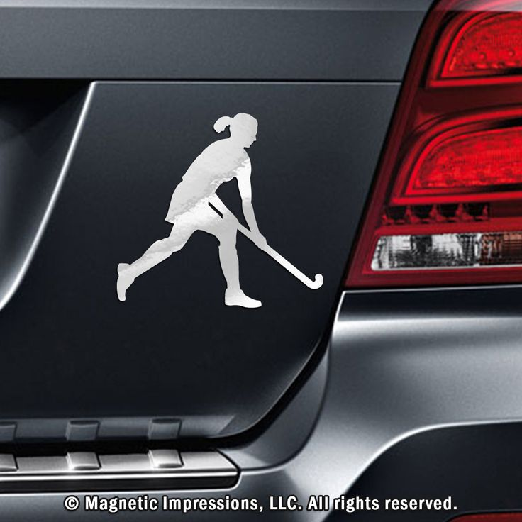 Field Hockey Player with Skirt Car Magnet. Inspire your field hockey girl on a daily basis with a field hockey magnet on your car.
