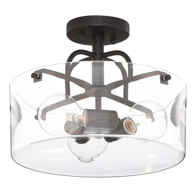 home decorators collection 3-light bronze semi-flush mount
