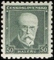 Znaczek: Tomáš Garrigue Masaryk (1850-1937), president (Czechosłowacja) (T.G.Masaryk) Mi:CS 295AI,Sn:CS 168a,AFA:CS 160,POF:CS 258I