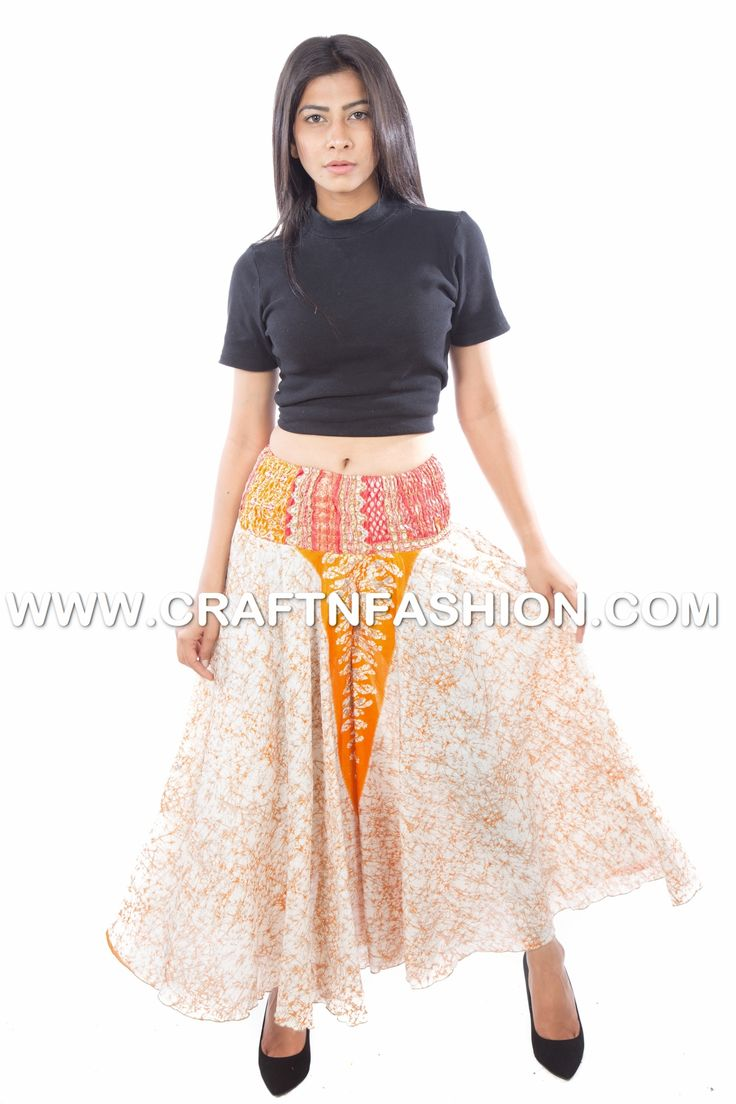 Vintage Silk Umbrella Belly Skirt Pant