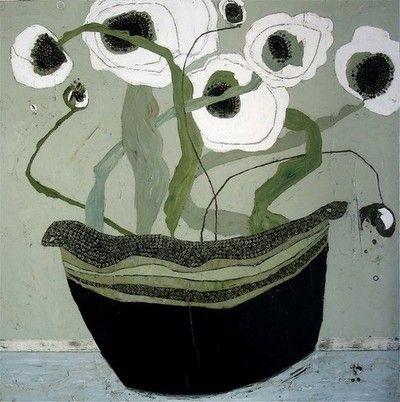 On the Side White Poppies Karen Tusinski