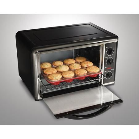 Large Toaster Oven Electric Counter Top Kitchen Hamilton Beach Stainless Steel