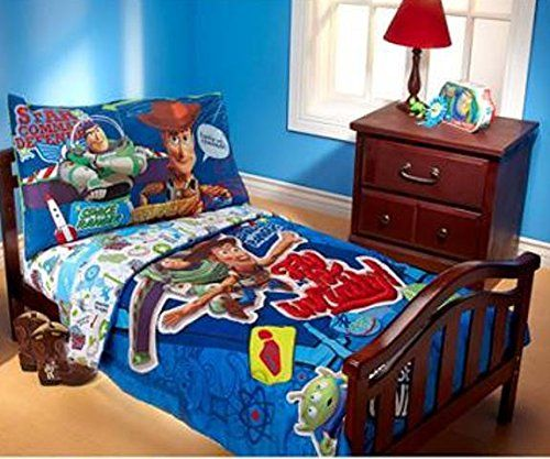 Disney Toy Story Fly to Infinity 4-Piece Toddler Bedding Set @ niftywarehouse.com