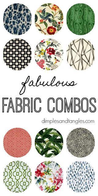 Fabric Mix and Match Patterns and Colors  ||  Patterned Fabric Combos