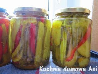 Kuchnia domowa Ani: Słodko-kwaśne ogórki kanapkowe