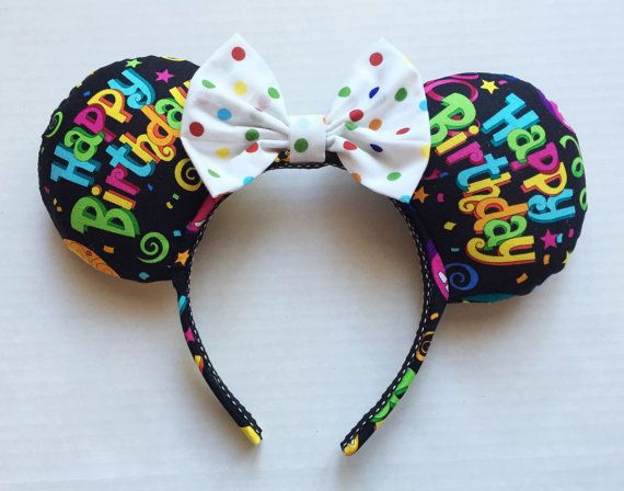 Happy Birthday Mouse Ears by TheseLittleBeauties on Etsy