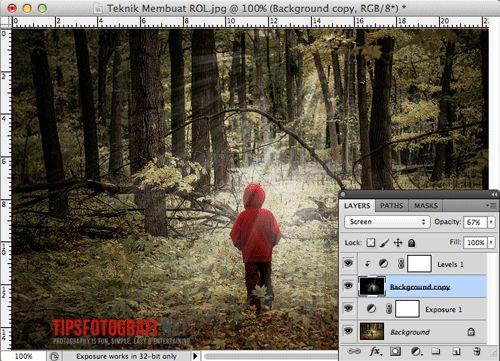 Membuat Efek Ray of Light (ROL) dengan Photoshop | Teknik Fotografi Pemula