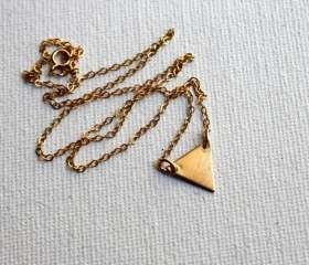 Rachel Pfeffer Tiny Triangle Necklace in Brass