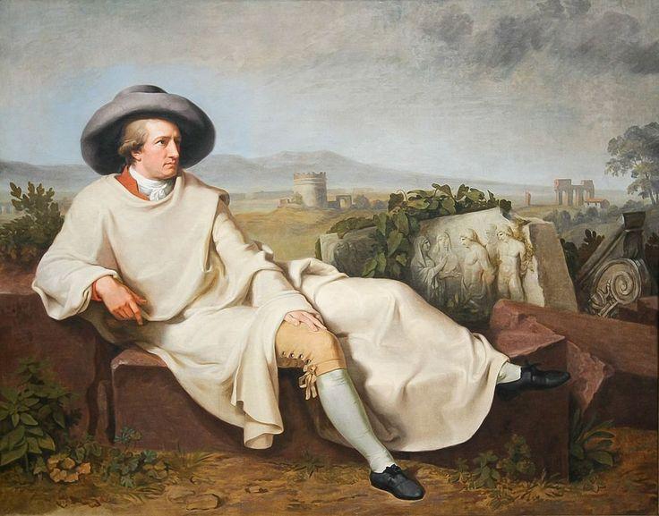 Johann Heinrich Wilhelm Tischbein - Goethe in der roemischen Campagna - Klassizismus