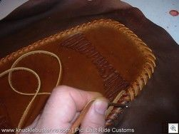 Great tutorial on how to create a leather seat. Lastrideseat_11