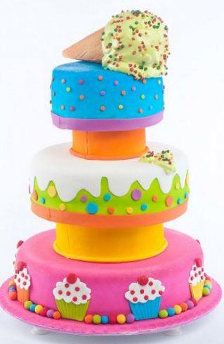 Torta personalizada - cono de helado