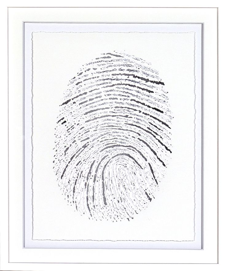 Silver Finger Print I
