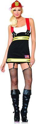 Adult Sexy Backdraft Babe Halloween Costume Fancy Dress Up Fire Fighter Hero