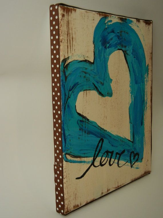 blue heart canvas