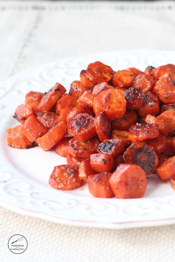 roasted balsamic carrots - confessions of a cooking diva