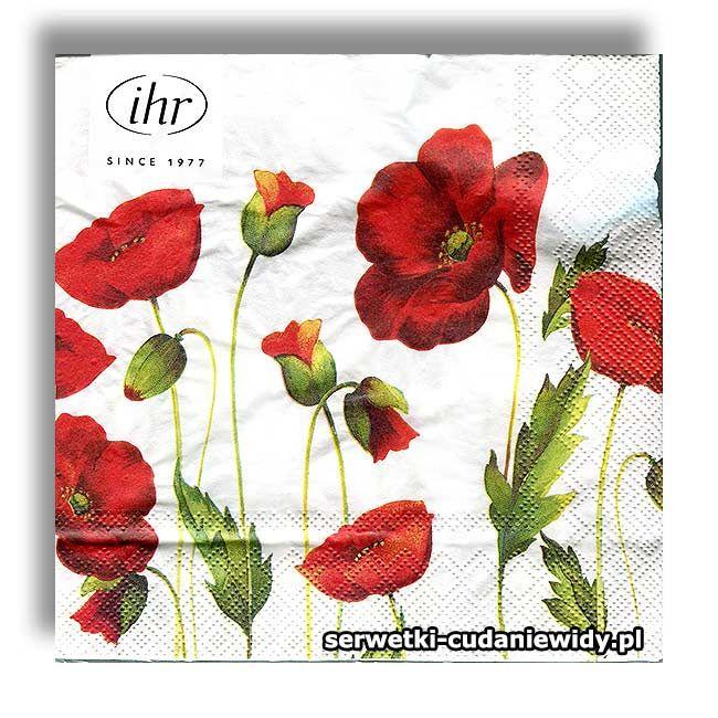 Ideal Home Range Serwetki Papierowe Serwetki Dekoracyjne Kolekcja 2020 Sklep Z Serwetkami Roze Maki Polne Kwiaty Decoupage Kolekcja